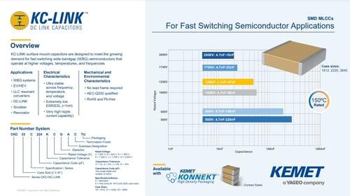 KEMET KC-LINK product brief